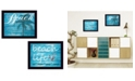 """Trendy Decor 4U Beach Life Collection By Cindy Jacobs, Printed Wall Art, Ready to hang, Black Frame, 18"""" x 14"""""""