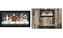 """Trendy Decor 4U Sticking Together By Diane Kater, Printed Wall Art, Ready to hang, Black Frame, 20"""" x 8"""""""