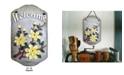 "Trendy Decor 4U Welcome Sign, Magnolia Porch Decor, Resin Slate Plaque, Ready to hang Decor, 13"" x 7.75"""