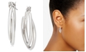 "Charter Club Silver-Tone Small Double Hoop Earrings, 1"", Created for Macy's"
