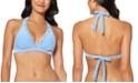 Jessica Simpson Twiggy Stripe Textured Halter Bikini Top