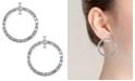 Trifari Silver-Tone Hoop Drop Earrings