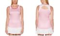 PGA TOUR Grand Slam Tennis-Print Cutout-Back Tank Top