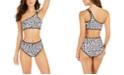 Calvin Klein Bound Printed One-Shoulder Bikini Top & High-Waist Bikini Bottoms