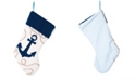 """Glitzhome 19"""" L Hooked Anchor Stocking"""
