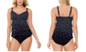Swim Solutions Tiered Tankini Top & Bottoms, Created for Macy's