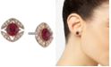 Givenchy Pavé & Stone Button Earrings