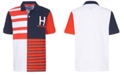 Tommy Hilfiger Big Boys Evan Colorblocked Stripe Logo Piqué Polo Shirt