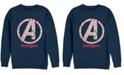 Marvel Men's Avengers Endgame Line Art Logo, Crewneck Fleece