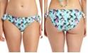 California Waves Floral-Print Ruffled Hipster Bikini Bottoms, Created for Macy's