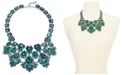 "Charter Club Silver-Tone Stone Drama Statement Necklace, 17"" + 2"" extender, Created for Macy's"
