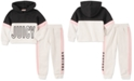 Juicy Couture Toddler Girls 2-Pc. Colorblocked Hoodie & Jogger Pants Set