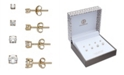 Giani Bernini Cubic Zirconia 4-Pc. Set Graduated Stud Earrings in 18k Yellow or Rose Gold  over Sterling Silver