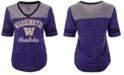 Colosseum Women's Washington Huskies Mr Big V-neck T-Shirt