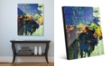 "Creative Gallery Roadblocked in Blue Abstract 20"" x 24"" Acrylic Wall Art Print"