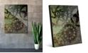"Creative Gallery Shadows of Gears Green Abstract 24"" x 36"" Acrylic Wall Art Print"