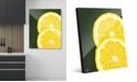 "Creative Gallery Large Sliced Graphic Lemon on Green 16"" x 20"" Acrylic Wall Art Print"