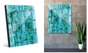 "Creative Gallery Aizu in Green Abstract 16"" x 20"" Acrylic Wall Art Print"