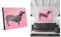 Creative Gallery Traits Dachshund Dog in Grey on Pink Acrylic Wall Art Print Collection