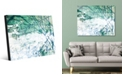 Creative Gallery Green Lined Wall with White Abstract Acrylic Wall Art Print Collection