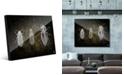 "Creative Gallery Beetles in Grey on Olive Green 24"" x 36"" Acrylic Wall Art Print"