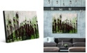 Creative Gallery The Crowd on Green Abstract Acrylic Wall Art Print Collection