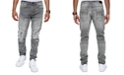 Sean John Men's Raven Athletic Tapered-Fit Stretch Destroyed Moto Jeans