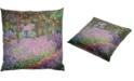"Red Lantern Monet Irises Pillow, 14.25"" x 14.25"""