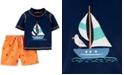 Carter's Baby Boys 2-Pc. Sail Boat Rash Guard Set