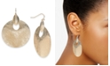 Charter Club Silver-Tone Sculptural Disc Drop Earrings, Created For Macy's