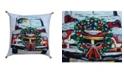 Chicos Home Christmas Holiday Car Pillow Cover