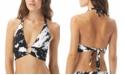 Carmen Marc Valvo Splash Printed O-Ring Halter Bikini Top
