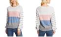 CeCe Striped Pom-Pom Cotton Sweater