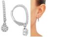 Forever Grown Diamonds Lab Created Diamond Dangle Drop Earrings (1/2 ct. t.w.) in Sterling Silver