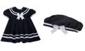 Rare Editions Baby Girls 2-Pc. Sailor Dress & Hat Set