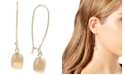 Robert Lee Morris Soho Two-Tone Sculptural Bead Long Drop Earrings