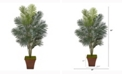 Nearly Natural 65in. Paradise Palm Artificial Plant in Brown Planter