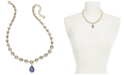 "Charter Club Crystal & Stone Teardrop Lariat Necklace, 17"" + 2"" extender, Created for Macy's"