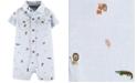 Carter's Baby Boys Cotton Animal-Print Chambray Romper