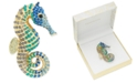 Charter Club Gold-Tone Multicolor Pavé Seahorse Pin, Created for Macy's