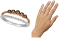 Le Vian Chocolatier® Diamond Two-Tone Statement Ring (1/4 ct. t.w.) in 14k Rose Gold & White Gold