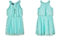 BCX Big Girls Popover Necklace Dress