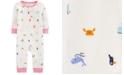 Carter's Baby Girls Beach-Print Cotton Coverall