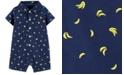 Carter's Baby Boys Banana-Print Poplin Cotton Romper