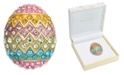 Charter Club Gold-Tone Multi-Crystal Decorated Egg Pin, Created for Macy's