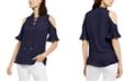Michael Kors Cold-Shoulder Top, Regular & Petites