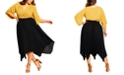 City Chic Trendy Plus Size Handkerchief-Hem Pleated Skirt