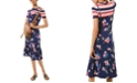 Michael Kors Floral-Print Slip Dress