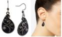 Charter Club Black-Tone Pear-Shape Drop Earrings, Created for Macy's