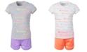 Champion Toddler Girls 2-Pc. Allover Logo Script T-Shirt & Mesh Shorts Set